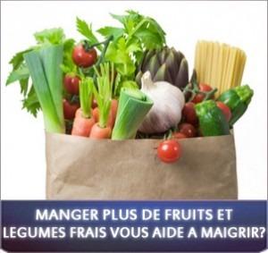 Manger plus de fruits et légumes frais vous aide à maigrir