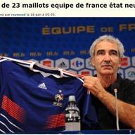 Maillots équipe de France