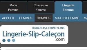 site slip calecon homme