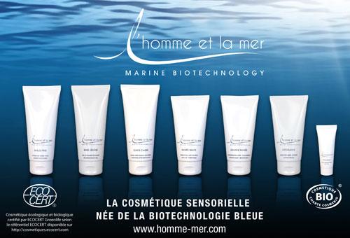 La cosmétique sensorielle L'Homme et la Mer