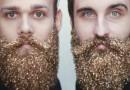 Pour les fêtes, tentez la barbe à paillettes !